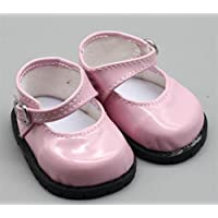 HuaQingPiJu-JP 18インチ人形アクセサリーレザーシューズおもちゃアクセサリー(ピンク)