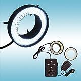実体顕微鏡用4方向独立照射二重巻きLEDリング照明装置|LED-R72