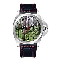 GIRLSIGHT 高級 時計 ブランド 人気、ブラウン ファッション 上品 腕時計 ブランド 人気、自分用もしくは親戚お友達恋人へ贈る メンズ 時計 パーソナリティパターンウォッチ 001.852 st 空挺師団ロゴウォッチ