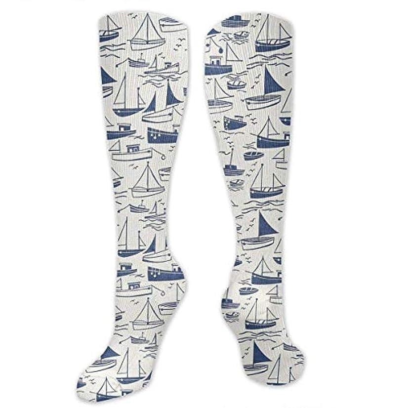 ハリウッド基本的なゴネリル靴下,ストッキング,野生のジョーカー,実際,秋の本質,冬必須,サマーウェア&RBXAA A Group Fishing Boats Socks Women's Winter Cotton Long Tube Socks...