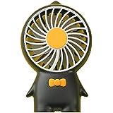 卓上首振り扇風機 風量3段階調整 静音なパワフル usb充電式ファン な小型扇風機 ミニ版のリビング 手持ち 卓上置き両用扇風機 (黒)