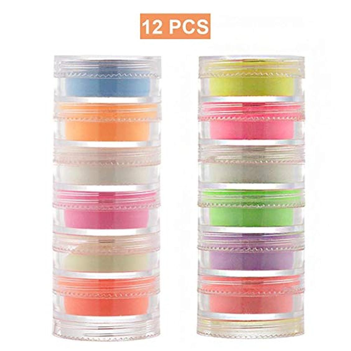 注目すべき場合オープニング女の子色レディースのための12色のハロウィンDIYによって塗られる釘の明るい粉
