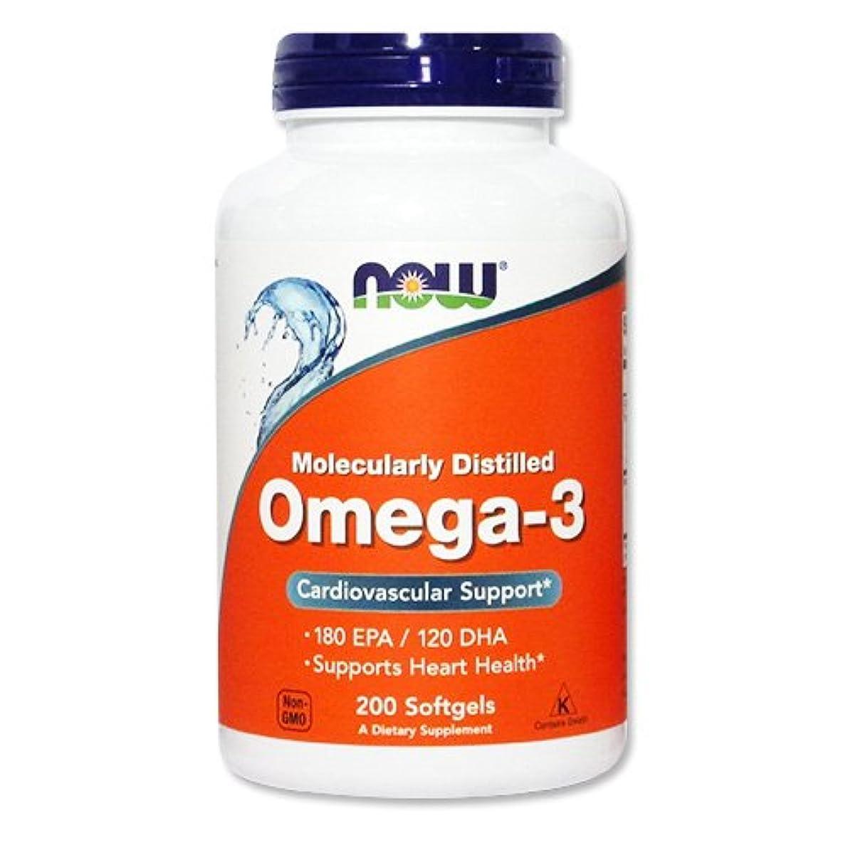 スプレー気分出発[海外直送品] NOW Foods オメガ3 1000mg 200粒 Omega-3 200softgels 3本セット