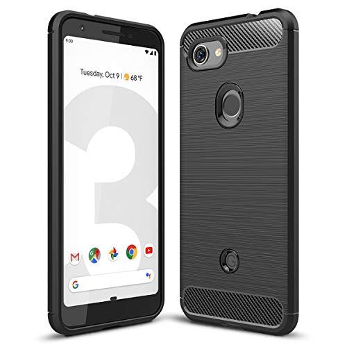Google Pixel 3a ケース Sotical Pixel 3a レンズ保護 Pixel 3a ソフトカバー TPU 耐衝撃 指紋防止 落下防止 超耐磨 軽量 全面保護カバー Google Pixel 3aスマートフォンケース「Pixel 3a」対応 ブラック