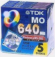 TDK MOディスク 640MB Windowsフォーマット5枚パック [MO-R640DX5A]