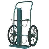 TRUSCO KS ボンベ運搬車(大車輪型) 酸素7000L容器、アセチレン7.0kg容器用 KUO