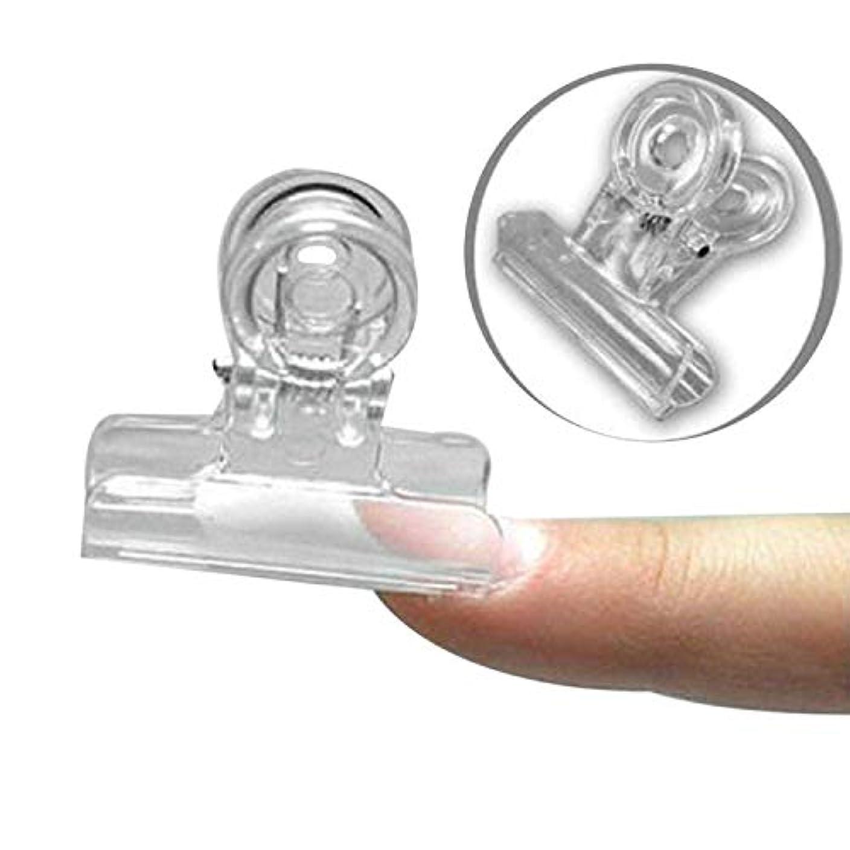 哺乳類銀行矩形CUHAWUDBA カーブネイルピンチクリップツール多機能プラスチック爪 ランダムカラー(トランスペアレント)