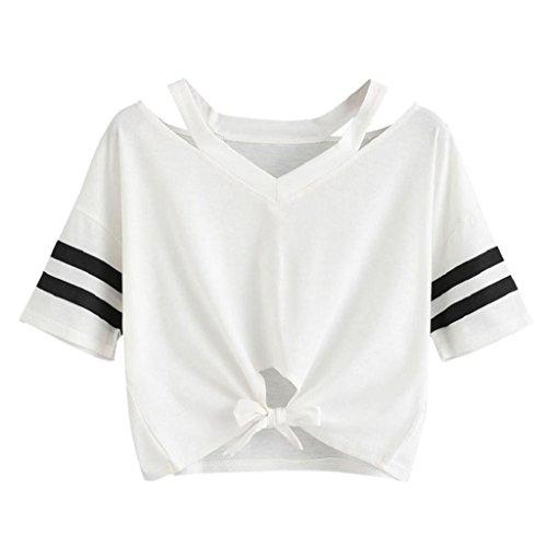 [Kukoyo] Tシャツ 無地 ボーダー 裾リボン 蝶結び...