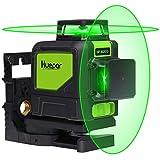 Huepar 8ライン グリーン レーザー墨出し器 緑色 レーザー クロスラインレーザー 自動補正機能 高輝度 高精度 ミニ型 ライン出射角水平 ライン360°縦ライン360° 4方向大矩照射モデル 902CG