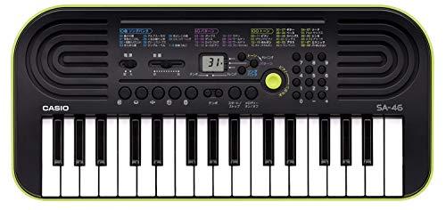 CASIO 32ミニ鍵盤 電子キーボード SA-46 ブラック&グリーン