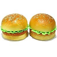 おいしそう! ふっくら ハンバーガー 食品サンプル  2個セット ディスプレイに