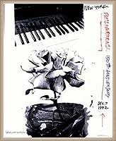 ポスター ロバート ラウシェンバーグ New York Philharmonic 150th Anniversary 1992年 限定2000枚 額装品 ウッドベーシックフレーム(オフホワイト)