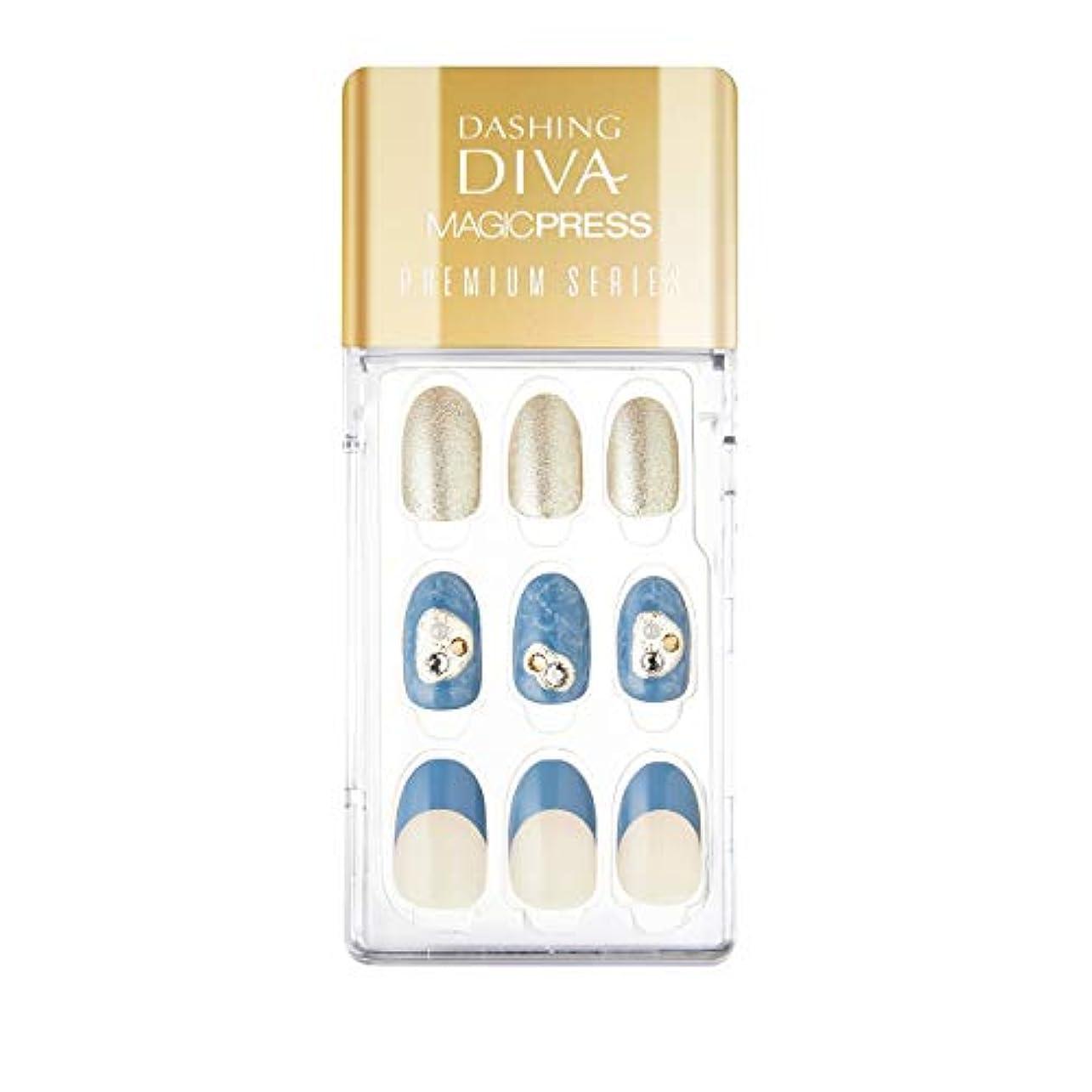 教える摂氏残酷ダッシングディバ マジックプレス DASHING DIVA MagicPress MDR_334PO-DURY+ オリジナルジェル ネイルチップ Blue Moon