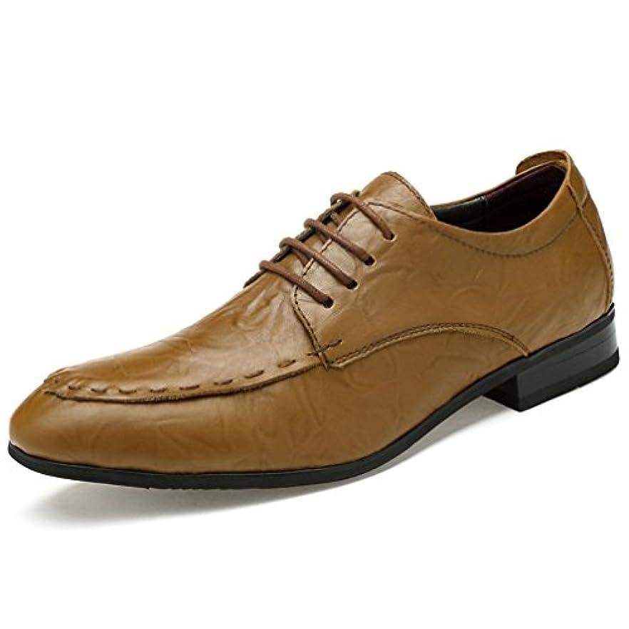 依存木製スキッパーストレートチップシューズ メンズ  革靴 紳士靴 フォーマルシューズ 防水 防滑 編み上げ ひも靴 外羽根 ローカット レースアップ カジュアルシューズ ビジネスシューズ