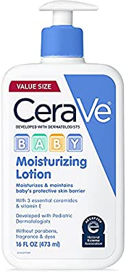 CeraVe Baby Lotion   Gentle Baby Skin Care with Hyaluronic Acid and Ceramides   Paraben and Fragrance Free