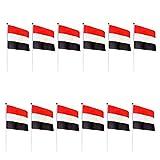 Baoblaze 12個セット 小型 旗バナー 手で振る 国旗 フェスティバル パーティー デコレーション 多デザイン選べる - エジプト