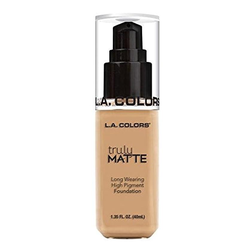 文法インキュバス伸ばす(3 Pack) L.A. COLORS Truly Matte Foundation - Natural (並行輸入品)