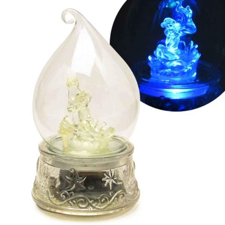 しずく型ドーム入り LEDで光る 回転オルゴール アリエル (リトルマーメイド) ディズニープリンセス