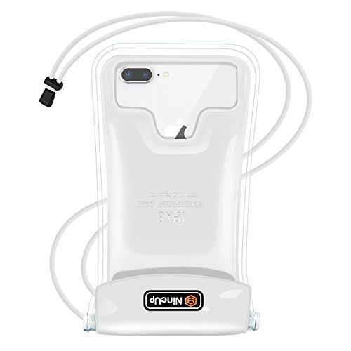 防水ケース 水に浮く NineUp 指紋/FaceID認証対応 温泉旅行 防雨 スマホ用防水ポーチ アイフォン防水防塵カバー 浮き輪iPhoneとAndroid全機種対応 高感度タッチスクリーン ネックストラップ付属(首掛け付き) IPX8認定 水中撮影 お風呂/潜水/温泉/水泳など適用 (アップグレードバージョン)