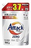 「【大容量】アタック ZERO(ゼロ) 洗濯洗剤 液体 詰め替え 1350g(約3.7倍分)」のサムネイル画像