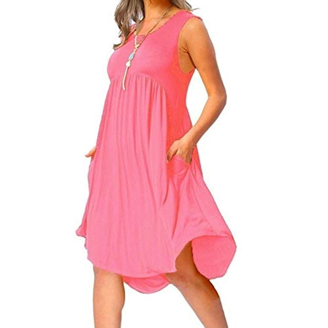 超音速望ましい有効MIFAN の女性のドレスカジュアルな不規則なドレスルースサマービーチTシャツドレス