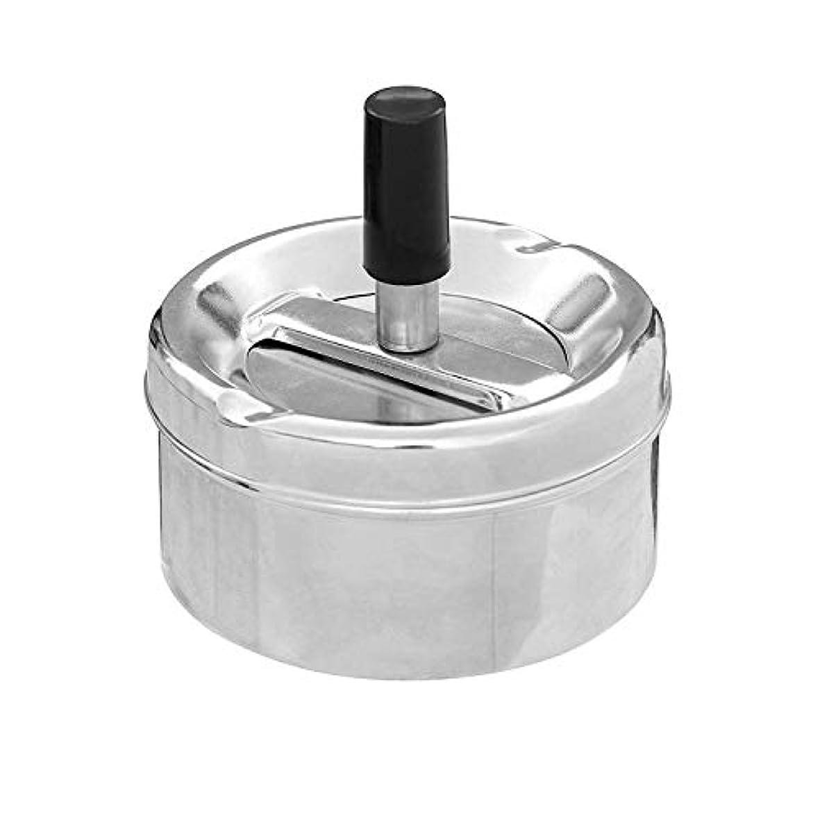 ロードハウスケント強い防風の創造的な人格の灰色のヨーロッパ式を覆うステンレス鋼の回転灰皿