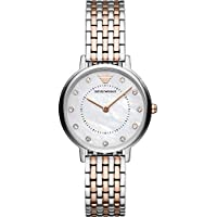 Emporio Armani Women's Quartz Watch analog Display and Stainless Steel Strap, AR11094