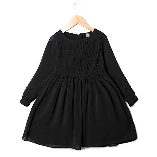 (ハイハート)Hiheart 子供 ドレス ブラック フォーマル 結婚式 面接 お受験 お葬儀 文化...