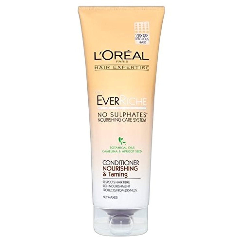 革命的浸透する不足L'Oreal Hair Expertise Ever Riche Conditioner Nour & Taming 250ml (Pack of 6) - ロレアルの髪の専門知識、これまでリッシュコンディショナーヌール...