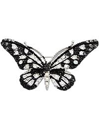 スワロフスキー アニマル 動物 昆虫 ブローチ バタフライ 蝶 アゲハ蝶 / ホワイト 白