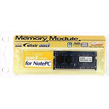 シー・エフ・デー販売 Elixir ノート用メモリ DDR3 SO-DIMM PC3-12800 CL11 4GB  D3N1600Q-4G