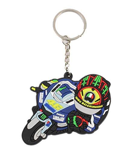 46 ROSSI バレンティーノ ロッシ VR46 ラバー キーホルダー キーリング Rubber keyRing keychain ハングオン [並行輸入品]