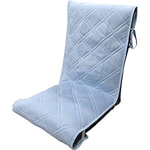 接触冷感 AIR リバーシブル座椅子カバー 50×130(+20) cm ブルー -