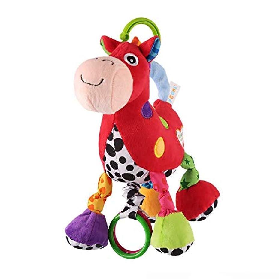 電卓鬼ごっこ安心させるBabyfansTM Baby Cute Red Horse Cartoon Shaped Stuffed Music Educational Toys by Babyfans TM