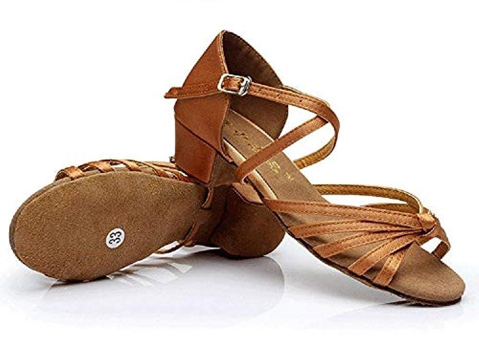 読書尋ねる理論[Dianyejiancai] 最新の女性ダンスシューズ 女の子ラテンダンスシューズ、子供用ダンスシューズローヒール耐摩耗性サンダル (Color : B, サイズ : Foot length=20.8CM(8.2Inch))