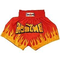 ThaismaiムエタイボクシングショーツFlamesサイズxl-waist 26