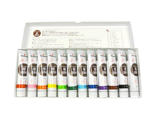 ターナー色彩 アクリル絵具 布えのぐ 12色セット