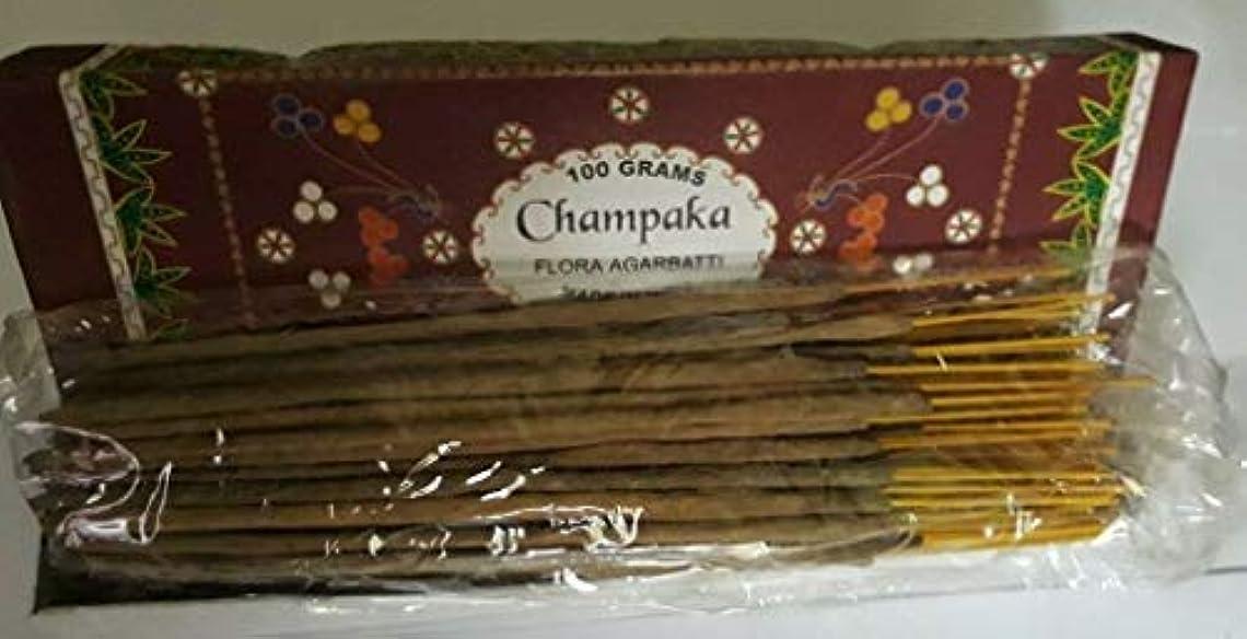 クリップ蝶目を覚ます扇動Champaka チャンパカ Agarbatti Incense Sticks 線香 100 grams Flora Incense Agarbatti フローラ線香