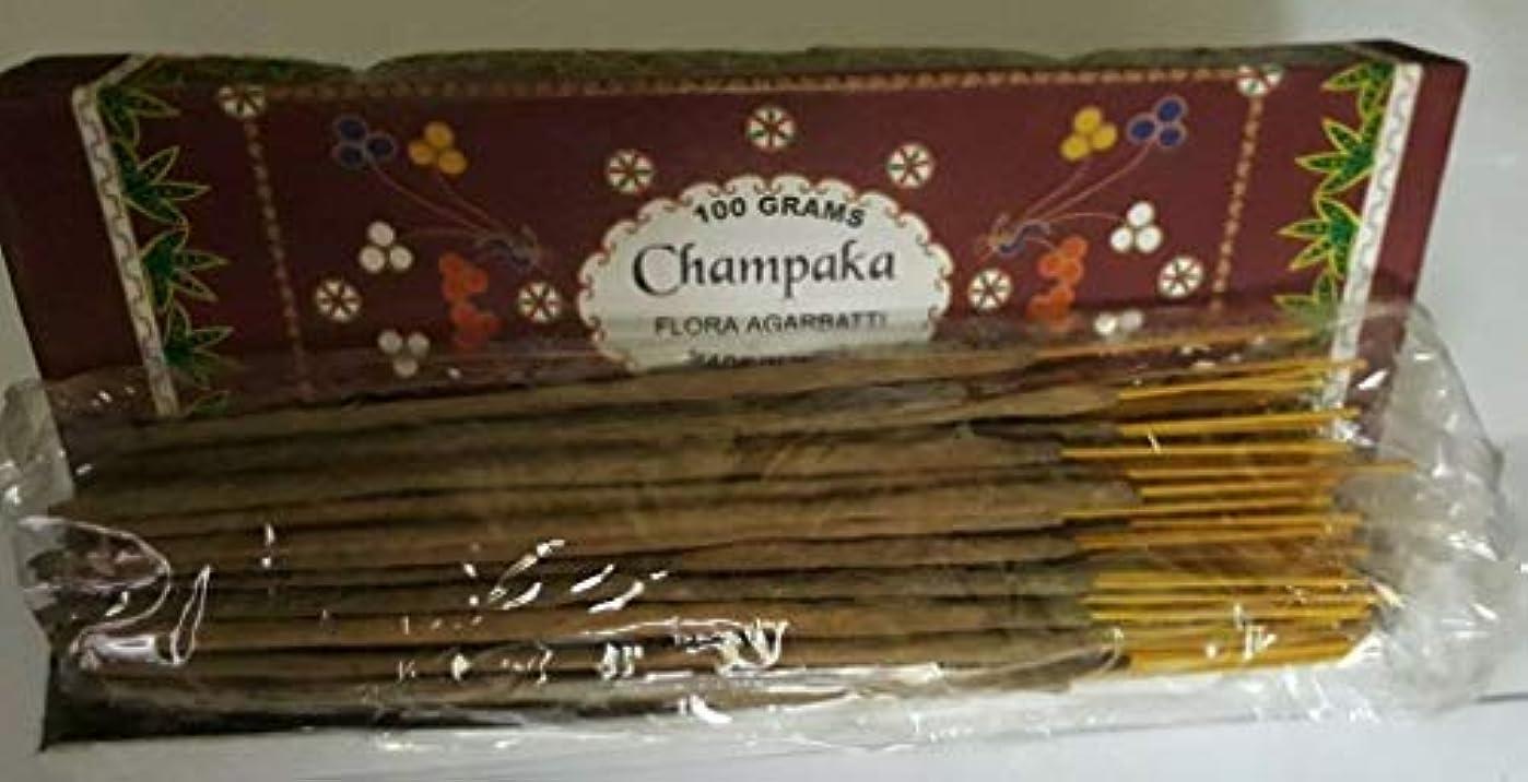 鎮静剤ウェーハガチョウChampaka チャンパカ Agarbatti Incense Sticks 線香 100 grams Flora Incense Agarbatti フローラ線香
