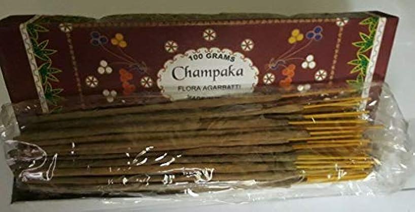 やさしく酸っぱい囲むChampaka チャンパカ Agarbatti Incense Sticks 線香 100 grams Flora Incense Agarbatti フローラ線香