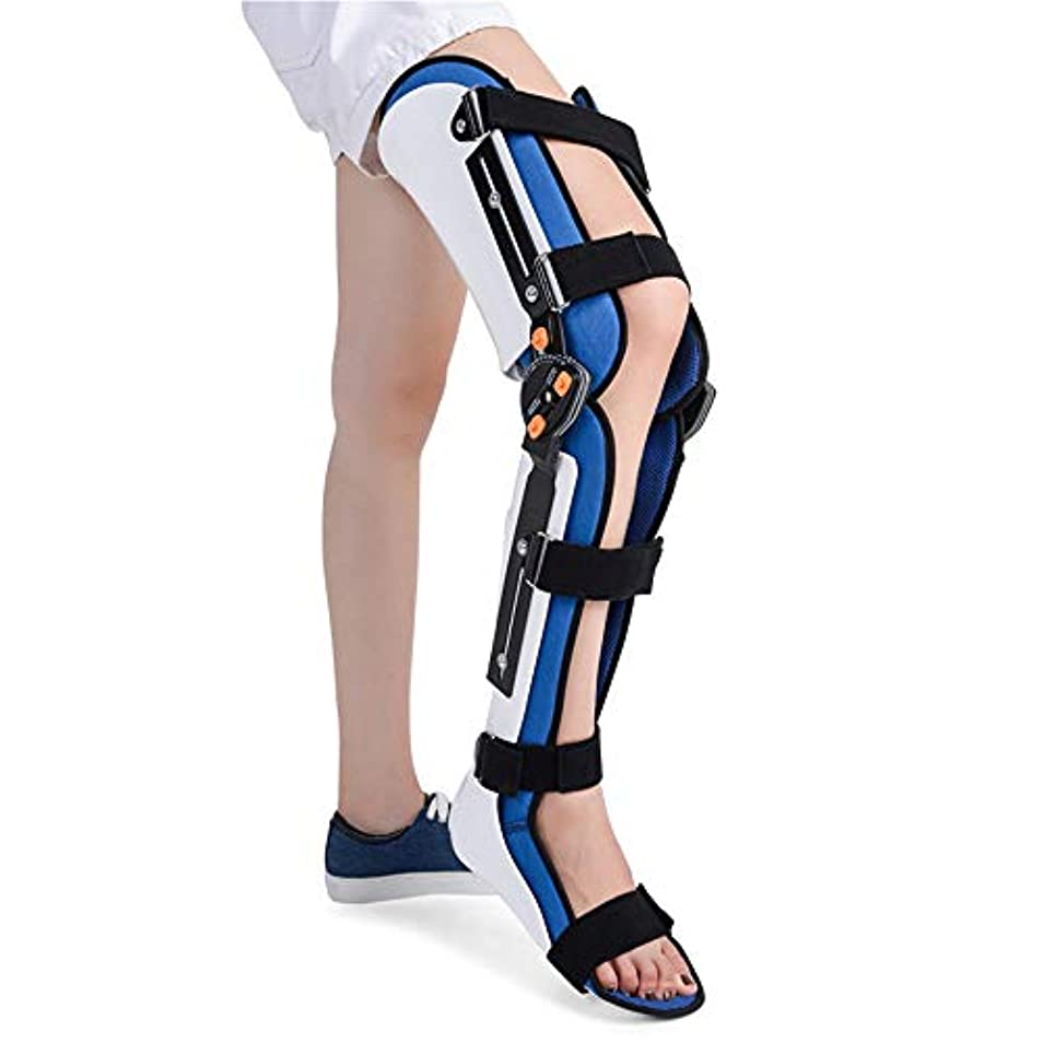 吸収咲くすぐに膝足首足用装具、調節可能な装具膝関節補正器サポート下肢ブレースユニバーサル
