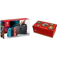 【Amazon.co.jp限定】Nintendo Switch Joy-Con (L) ネオンブルー/ (R) ネオンレッド+ギフトラッピングキット【大】 (BOX仕様:マリオキャラクターver.)