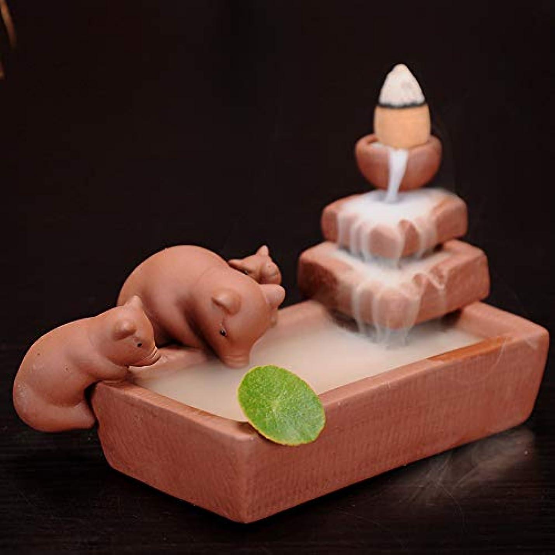 正確シャイさわやか陶磁器の逆流香炉の像の香炉の仏の炉の香炉陶磁器の香炉の逆流の香炉9 * 13cm