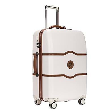 DELSEY デルセー スーツケース シャトレ 大型 lサイズ ハードキャリーケース キャリーバッグ CHATELET HARD+ ストッパー機能 大容量 軽量 10年国際保証 ハンガー&収納袋付属 (アンゴラ(ホワイト) 112L)