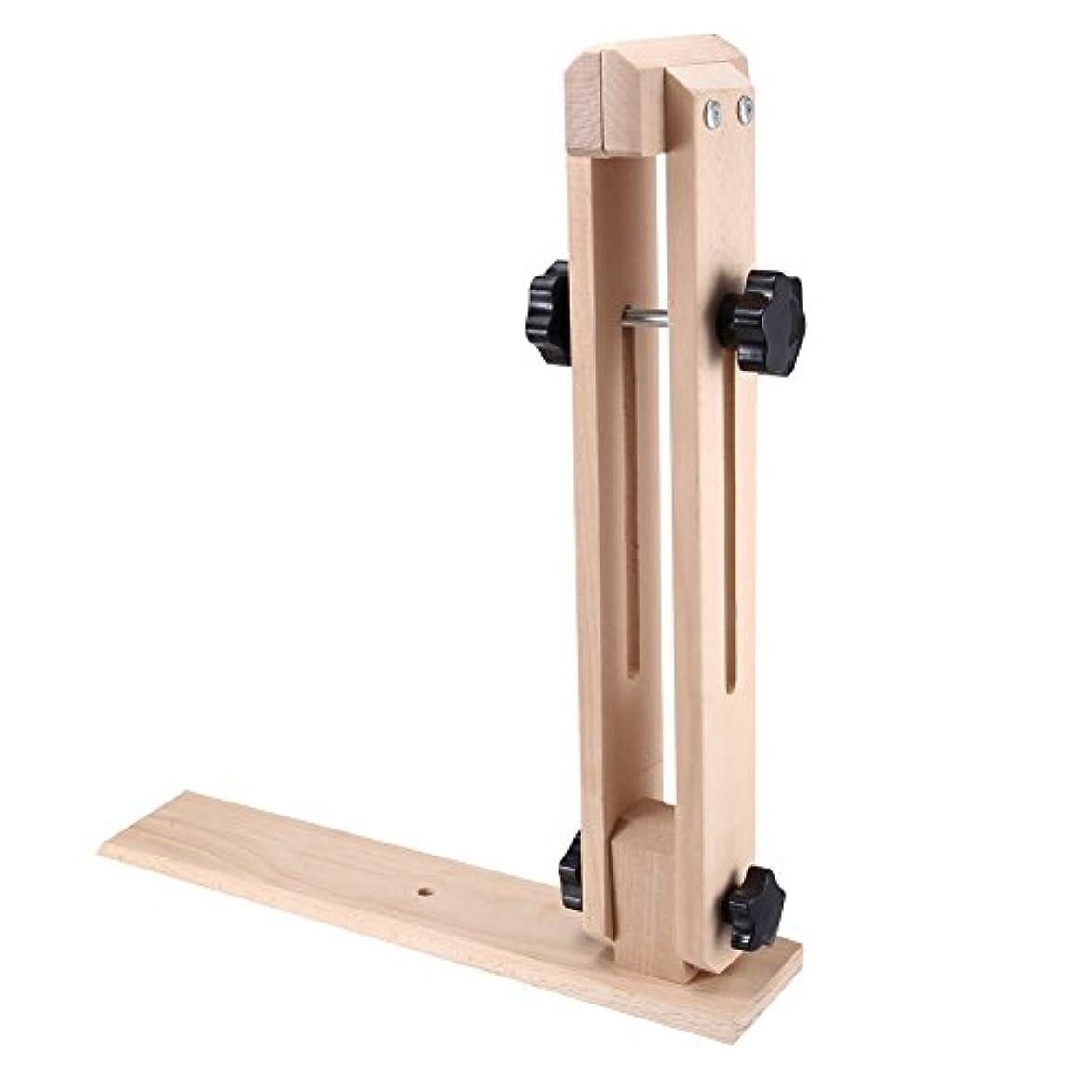 スナップ姉妹記者Xlp  縫合を切り分けるための調節可能な回転ノブと耐久性のある革固定木製クリップホルダーフレーム