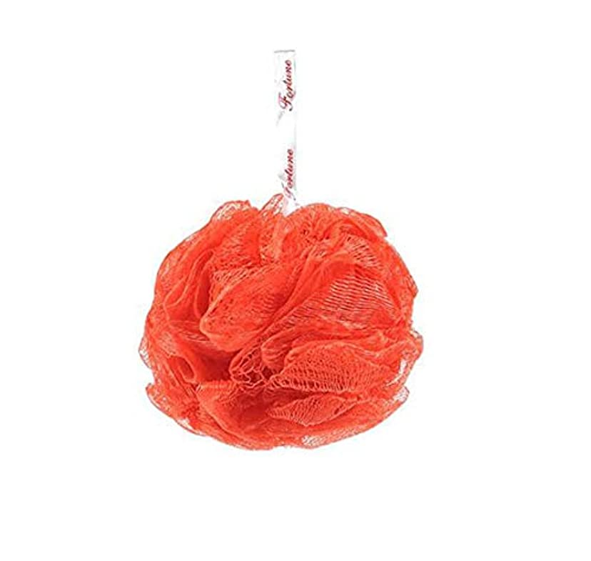 クレーター機械的にチロHJ フラワーボール 泡立てネット たっぷり泡立つ ボディウォッシュボール お風呂用ボール ふわふわ 色ランダム (2個セット)