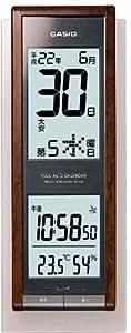 CASIO (カシオ) wave ceptor 電波掛時計 電子日めくり六曜カレンダー機能搭載 IDC-250J-5JF