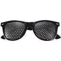 Black Pinhole Glasses - Glasses With Pinholes -E5Eye Care Pinhole Glasses Eyes Exercise Glasses Vision Improve Eyewear-(Pinhole Glasses For Vision)