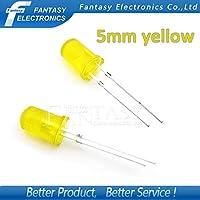 100個の黄色の発光ダイオード黄色が黄色5ミリメートルLEDが点灯