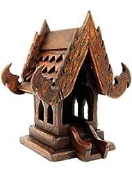 タイ仏教ハンドメイドチーク材木製Spirit家。(家、w4